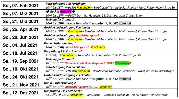 Goshin-Jitsu Verband Bayern e.V. - Termine 2021 (PDF Download)